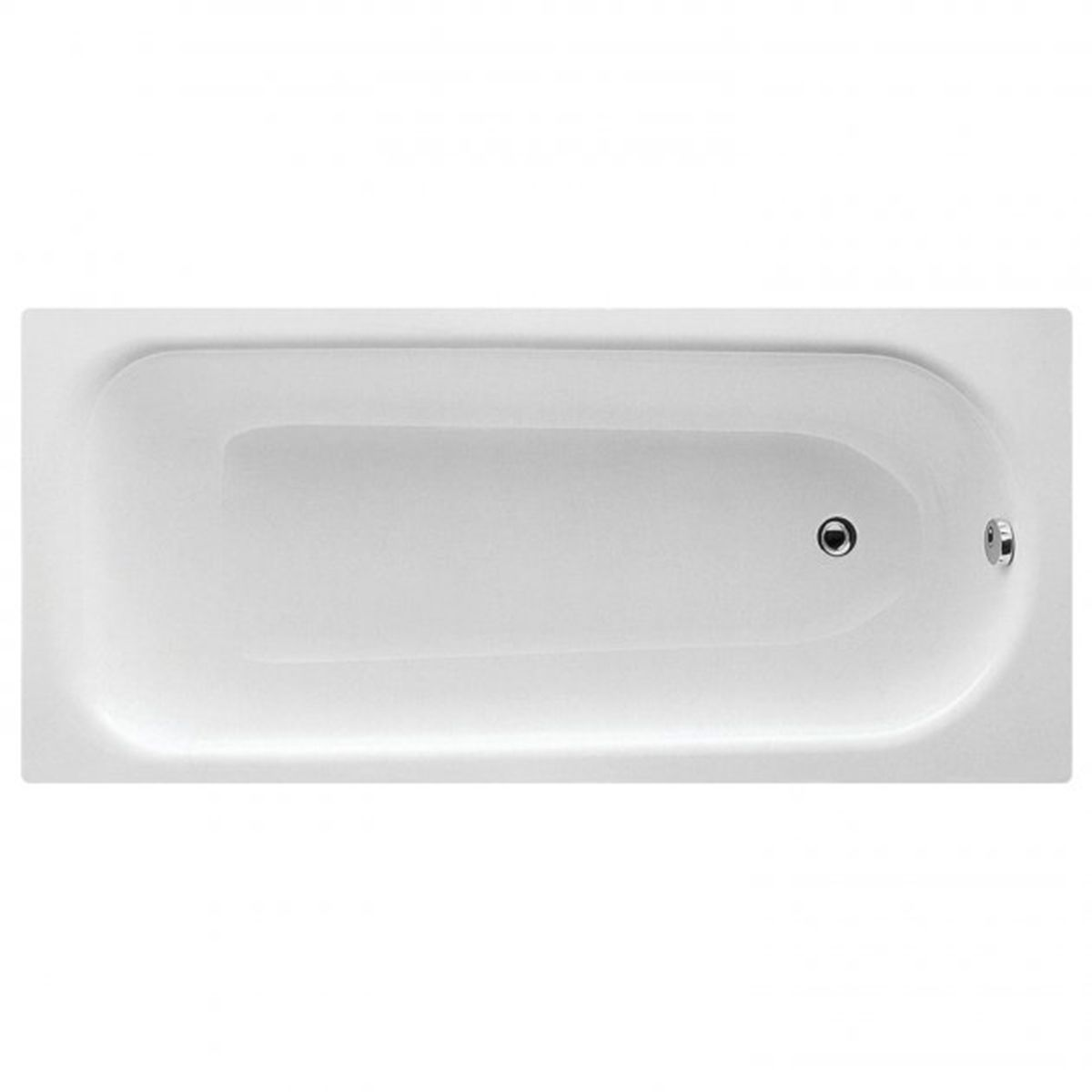 Bathrooms To Love Rectangular 2 Tap Hole Single Ended Steel Bath 1600mm x 700mm
