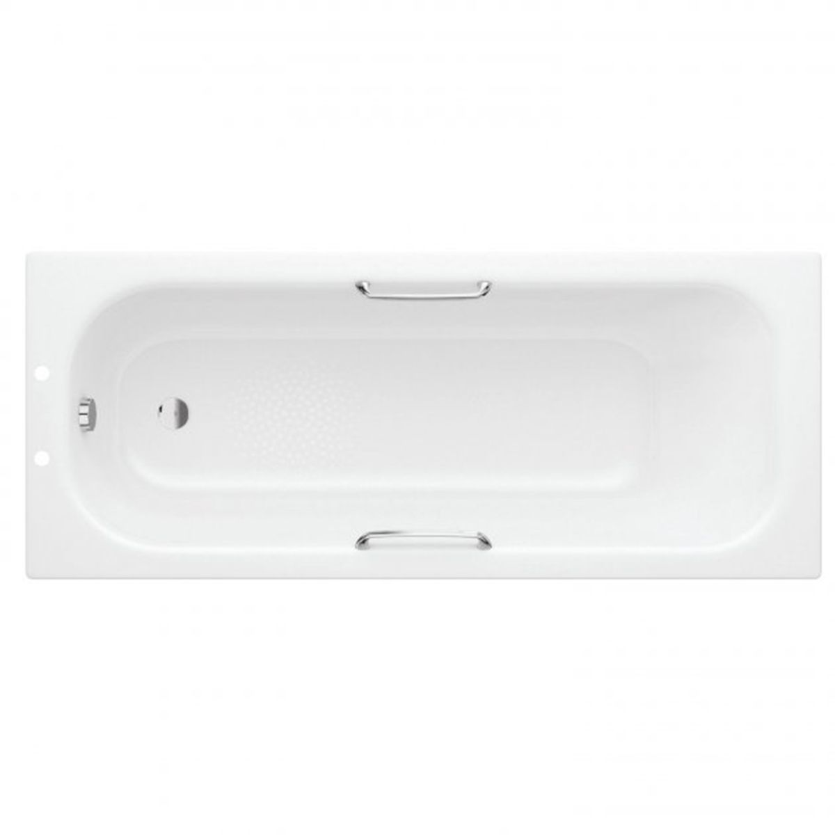 Bathrooms To Love Rectangular Single Ended Anti-Slip Steel Bath with Grip 1700mm x 700mm