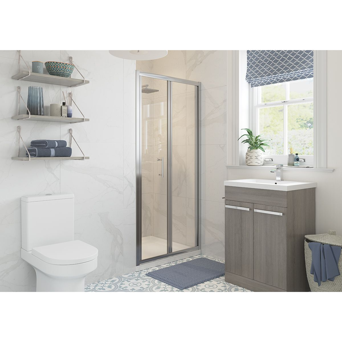 Bathrooms To Love RefleXion Classix Bifold Shower Door with Optional Side Panel
