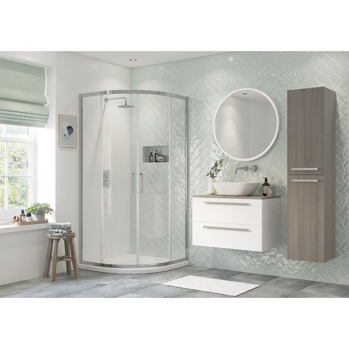 Bathrooms To Love RefleXion Flex 2 Door Quadrant Shower Enclosure