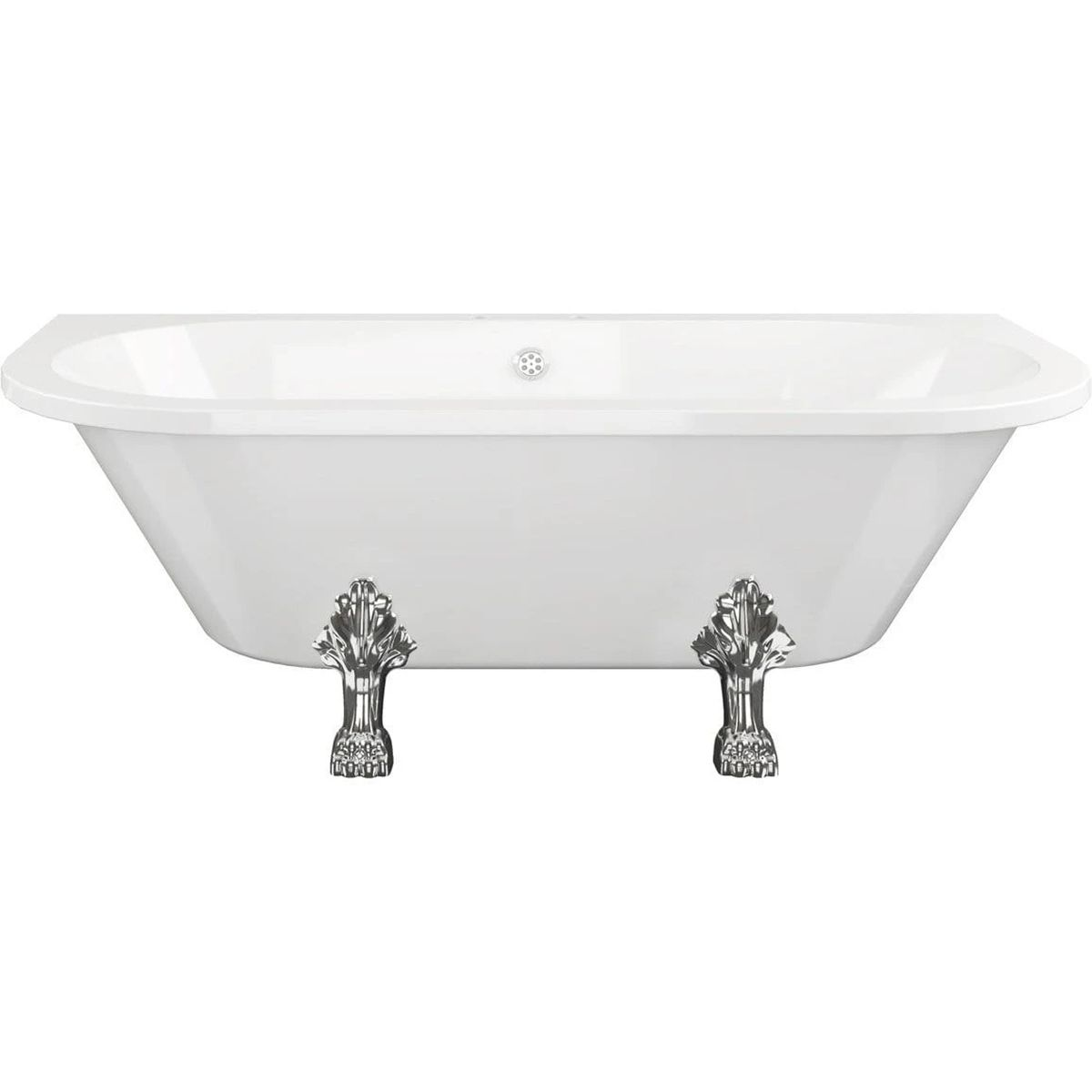 Bathrooms To Love Traditional Back To Wall Bath with Feet 1700mm x 800mm 2