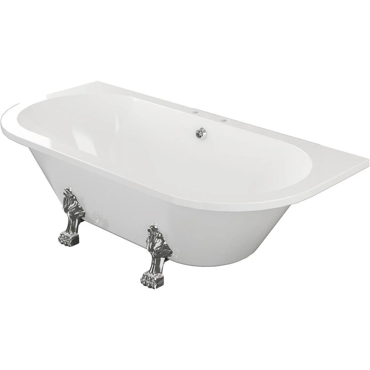 Bathrooms To Love Traditional Back To Wall Bath with Feet 1700mm x 800mm