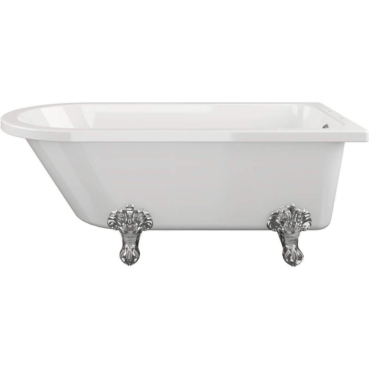 Bathrooms To Love Traditional Corner Freestanding Bath with Feet 1500mm x 750mm