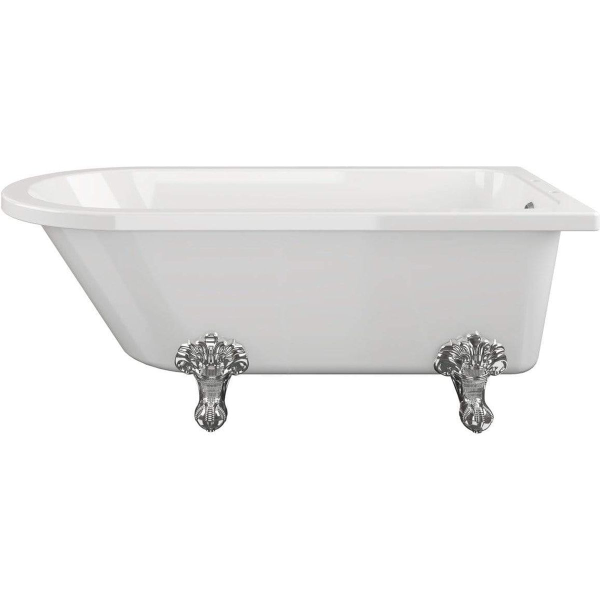 Bathrooms To Love Traditional Corner Freestanding Bath with Feet 1700mm x 750mm