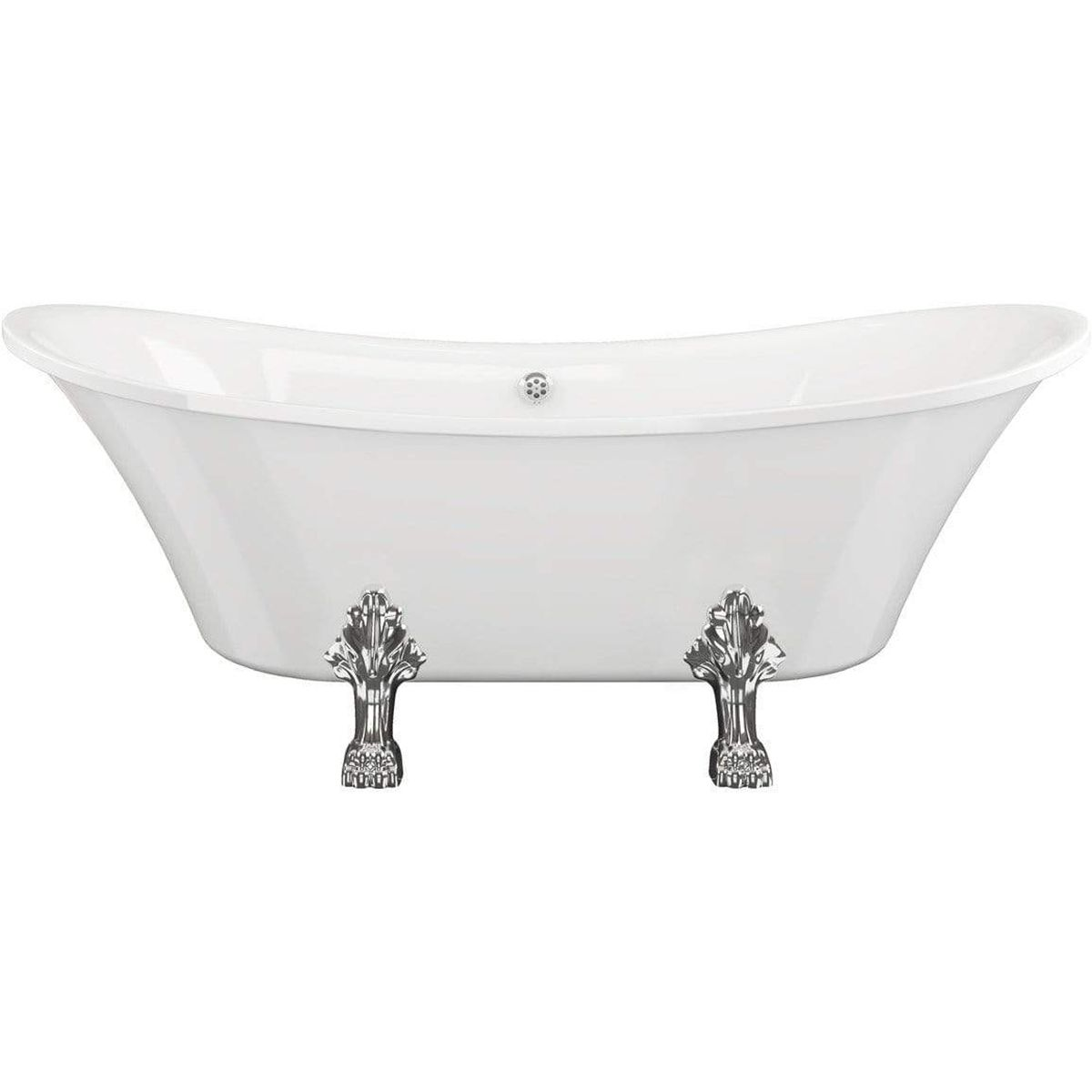 Bathrooms To Love Traditional Slim Freestanding Bath with Feet 1760mm x 710mm 1