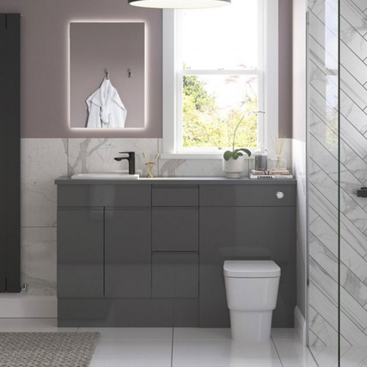 Bathrooms To Love White Compact Inset Basin 430 x 260mm  1