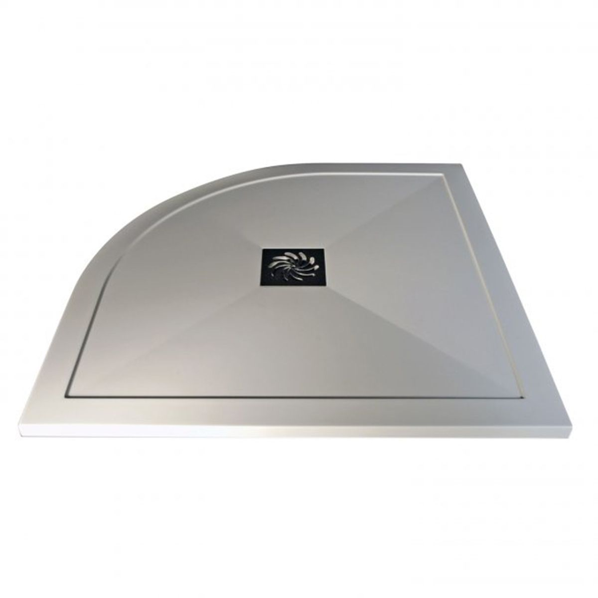 Bathrooms To Love White Quadrant Ultraslim Shower Tray with Waste 800mm x 800mm