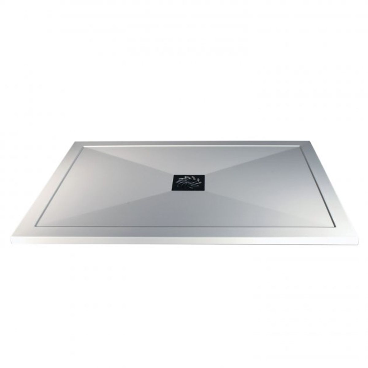 Bathrooms To Love White Rectangular Ultraslim Shower Tray with Waste 1400mm x 760mm