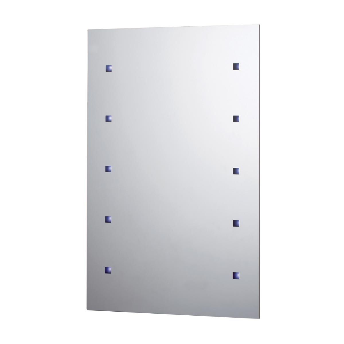 10 LED Battery Operated Bathroom Mirror 450 x 300mm