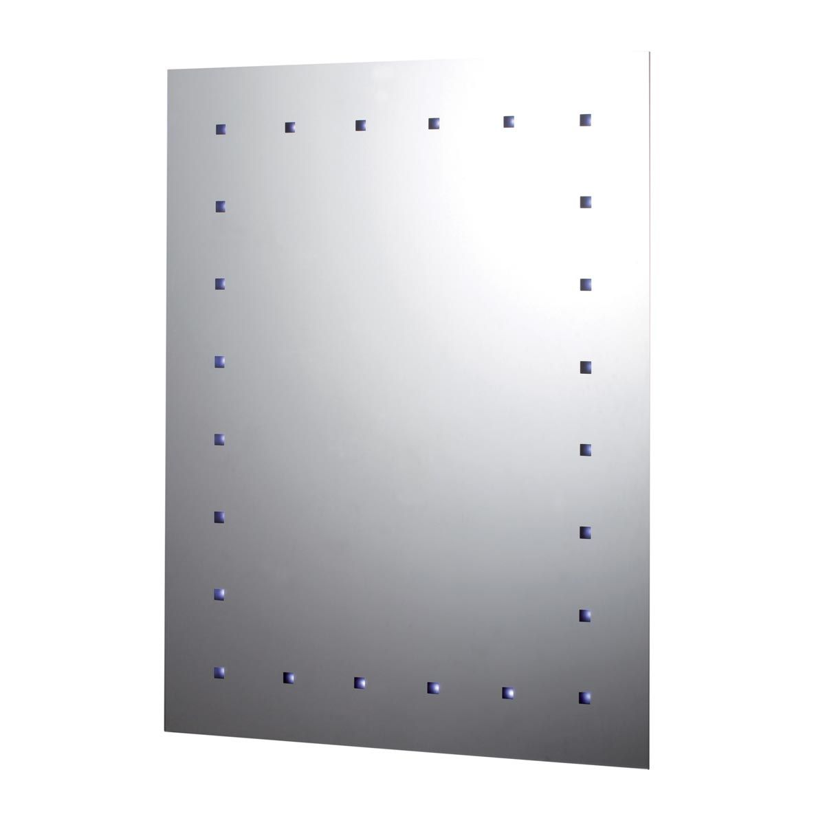 24 LED Battery Operated Bathroom Mirror 650 x 500mm