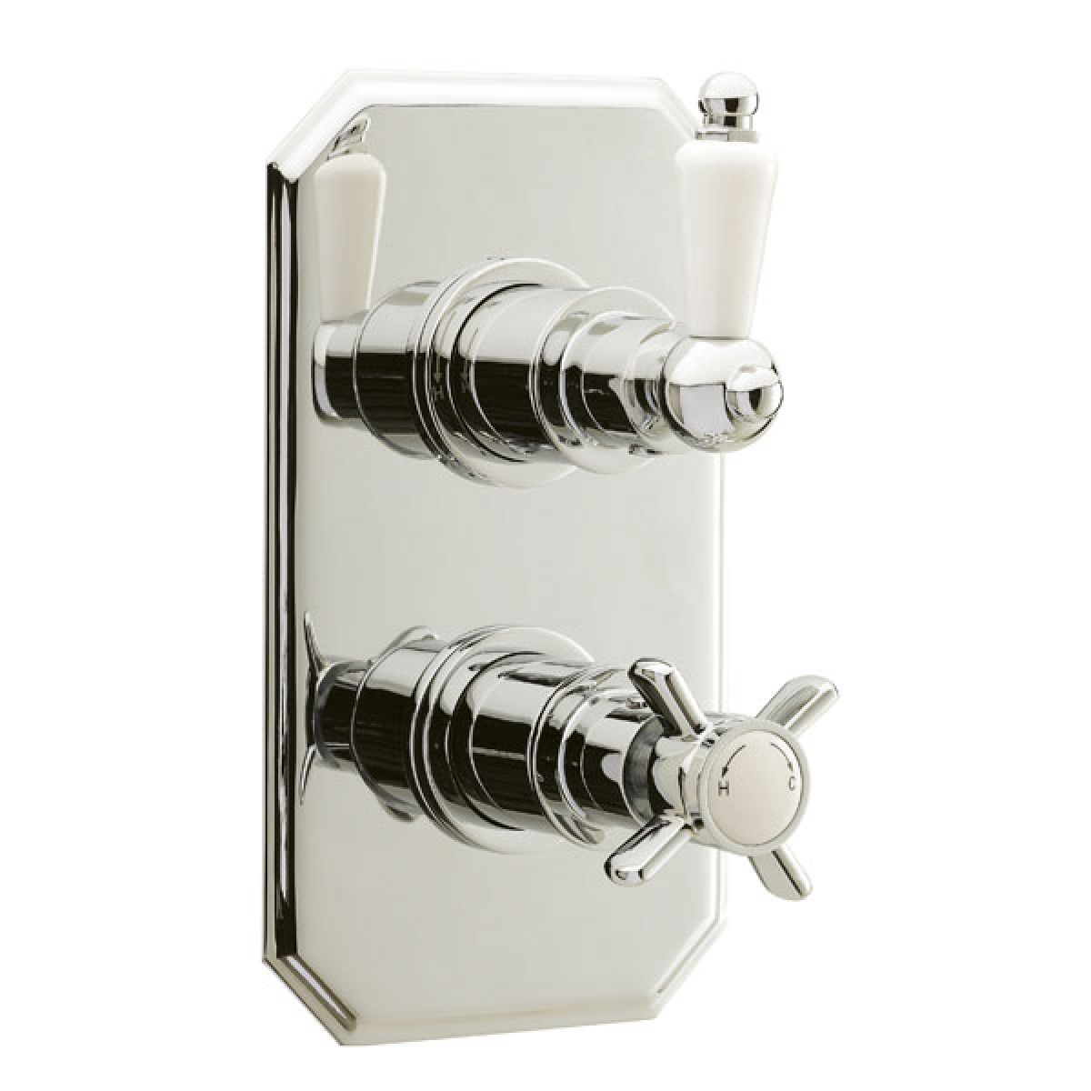 Ultra Traditional Rectangular Twin Concealed Thermostatic Shower Valve