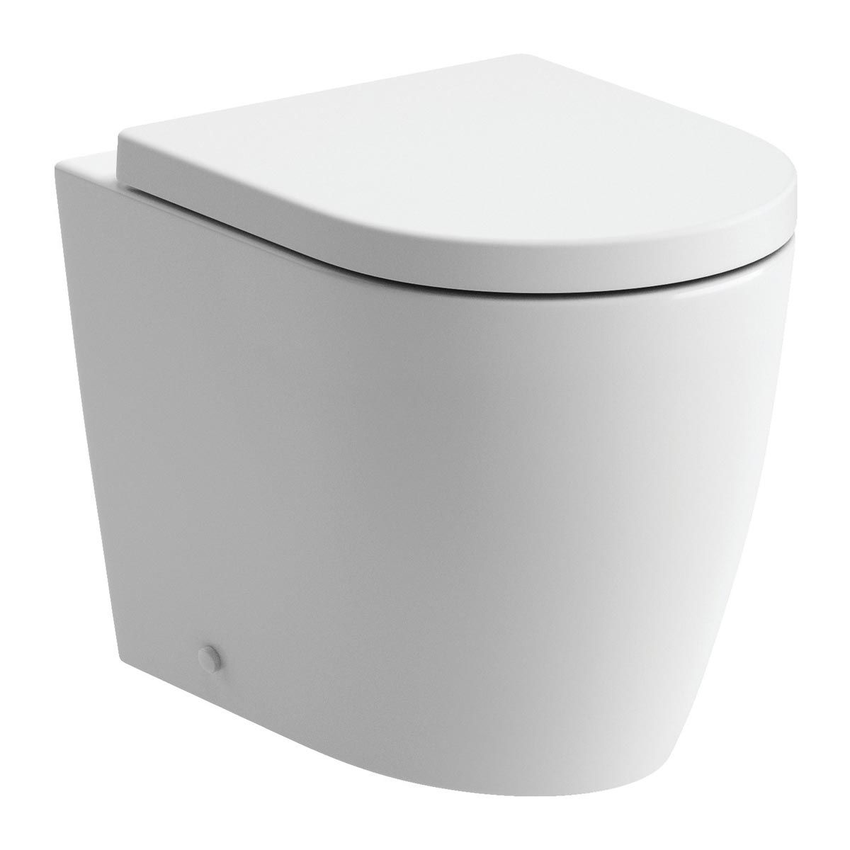 BTL Cilantro Back to Wall Toilet with Soft Close Seat