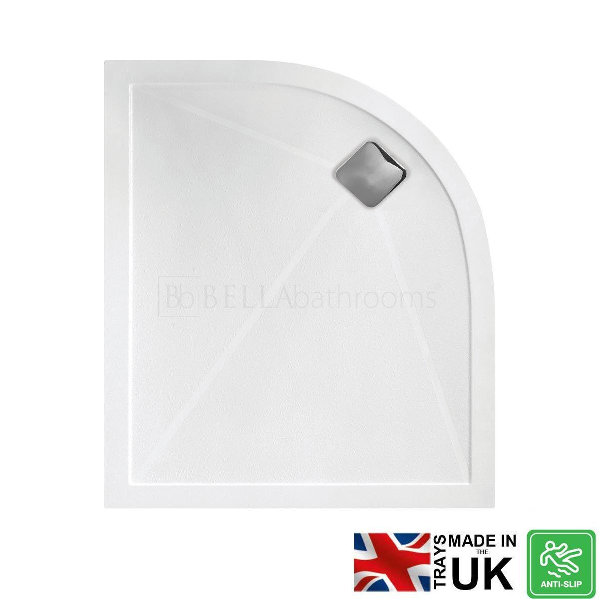 Bathrooms To Love Right Hand Offset Quadrant Anti-Slip Shower Tray with Waste 1200mm x 900mm
