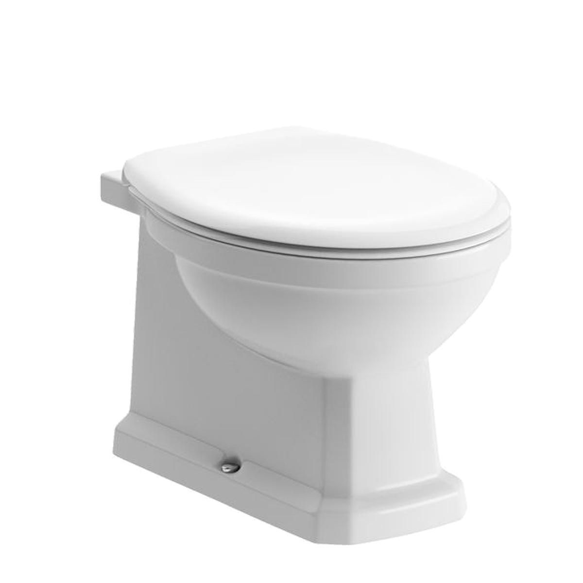 BTL Sherbourne Back To Wall Pan with Acrylic Seat