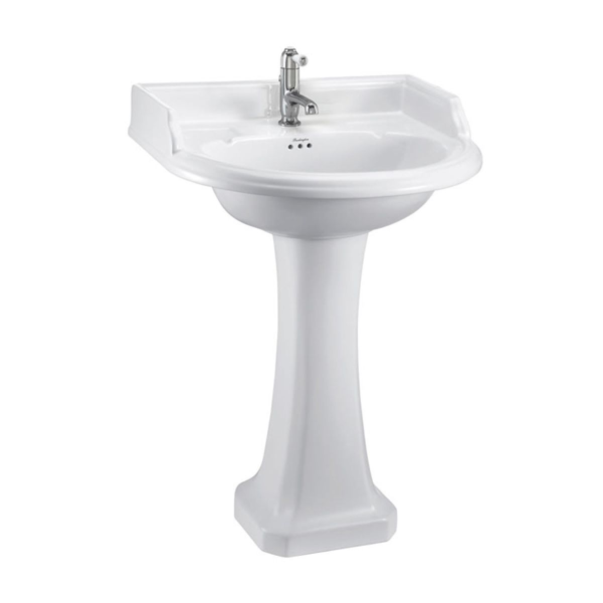 Burlington Classic Round Basin with Full Pedestal 650mm