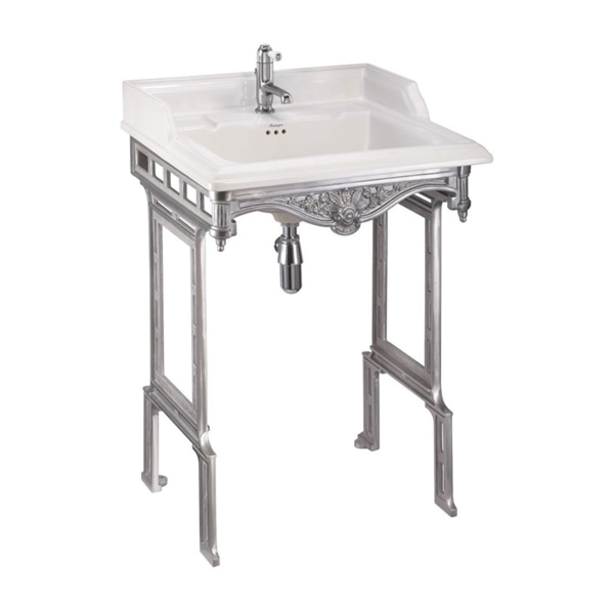 Burlington Classic Square Basin with Aluminium Stand 650mm