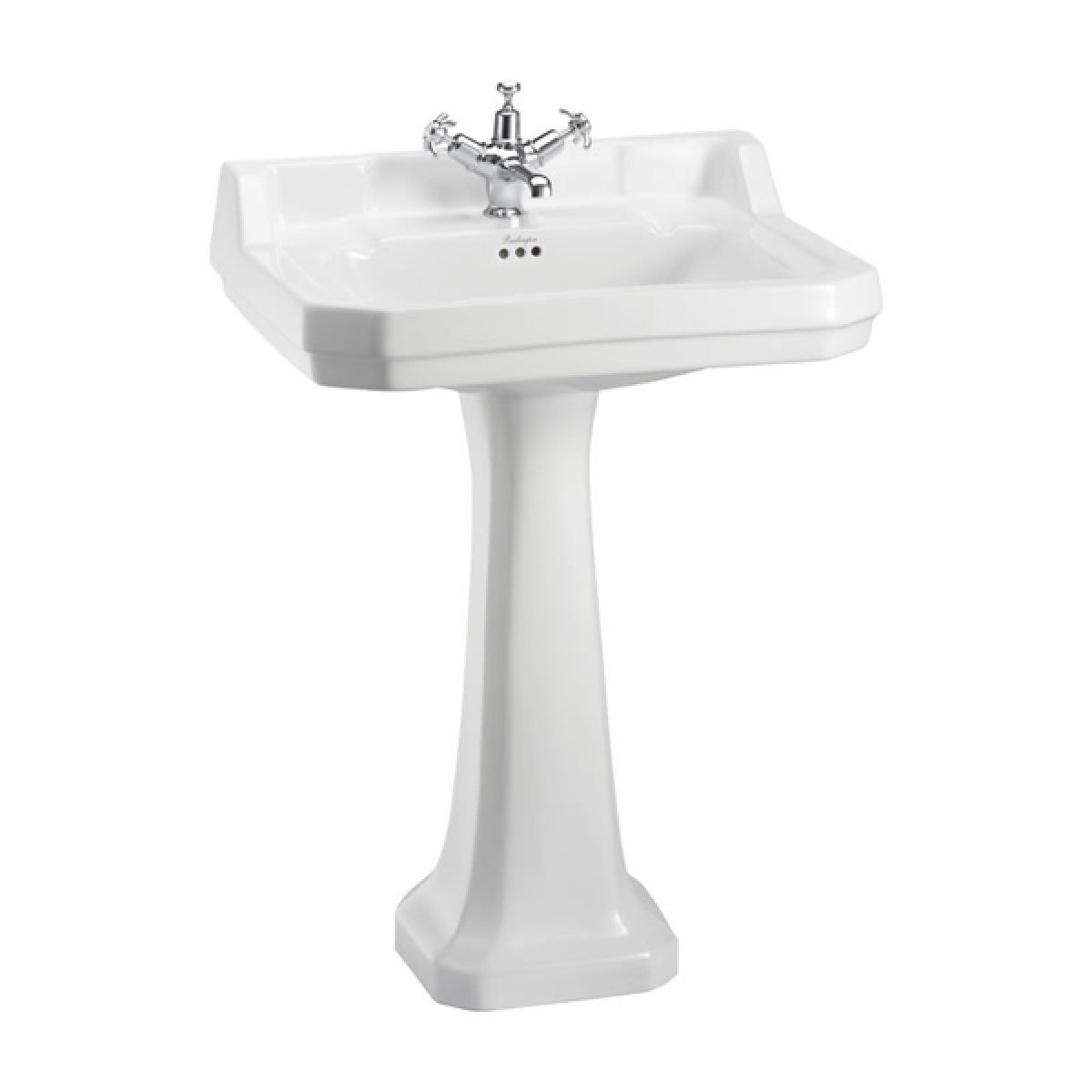 Burlington Edwardian Basin and Full Pedestal 610mm