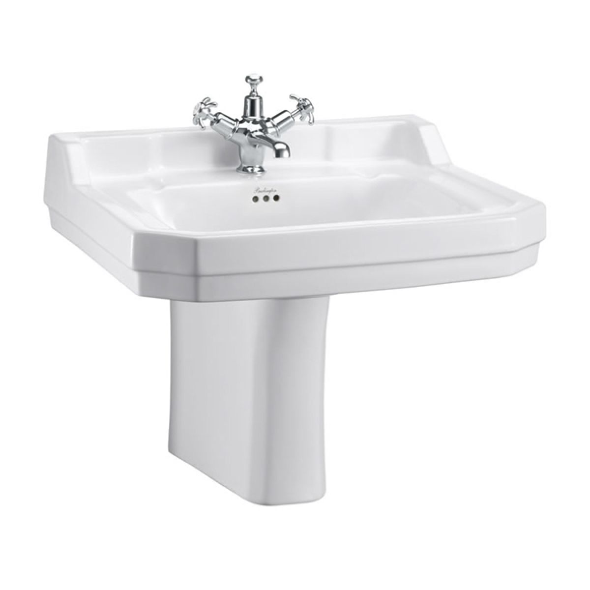 Burlington Edwardian Basin and Semi Pedestal 610mm