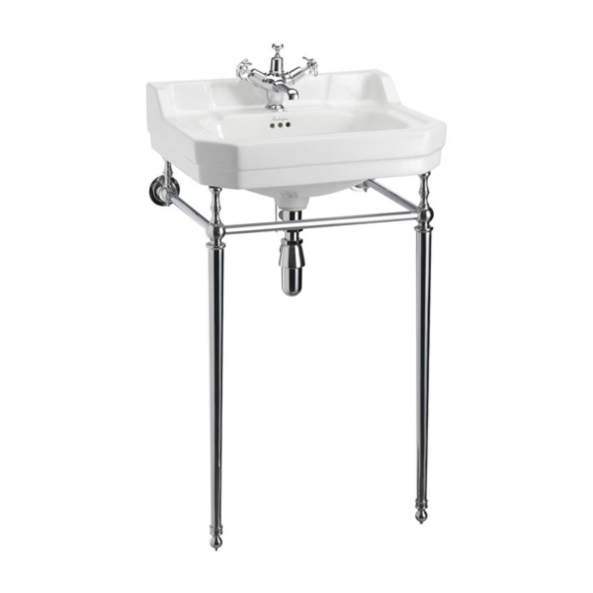 Burlington Edwardian Basin with Chrome Stand 560mm