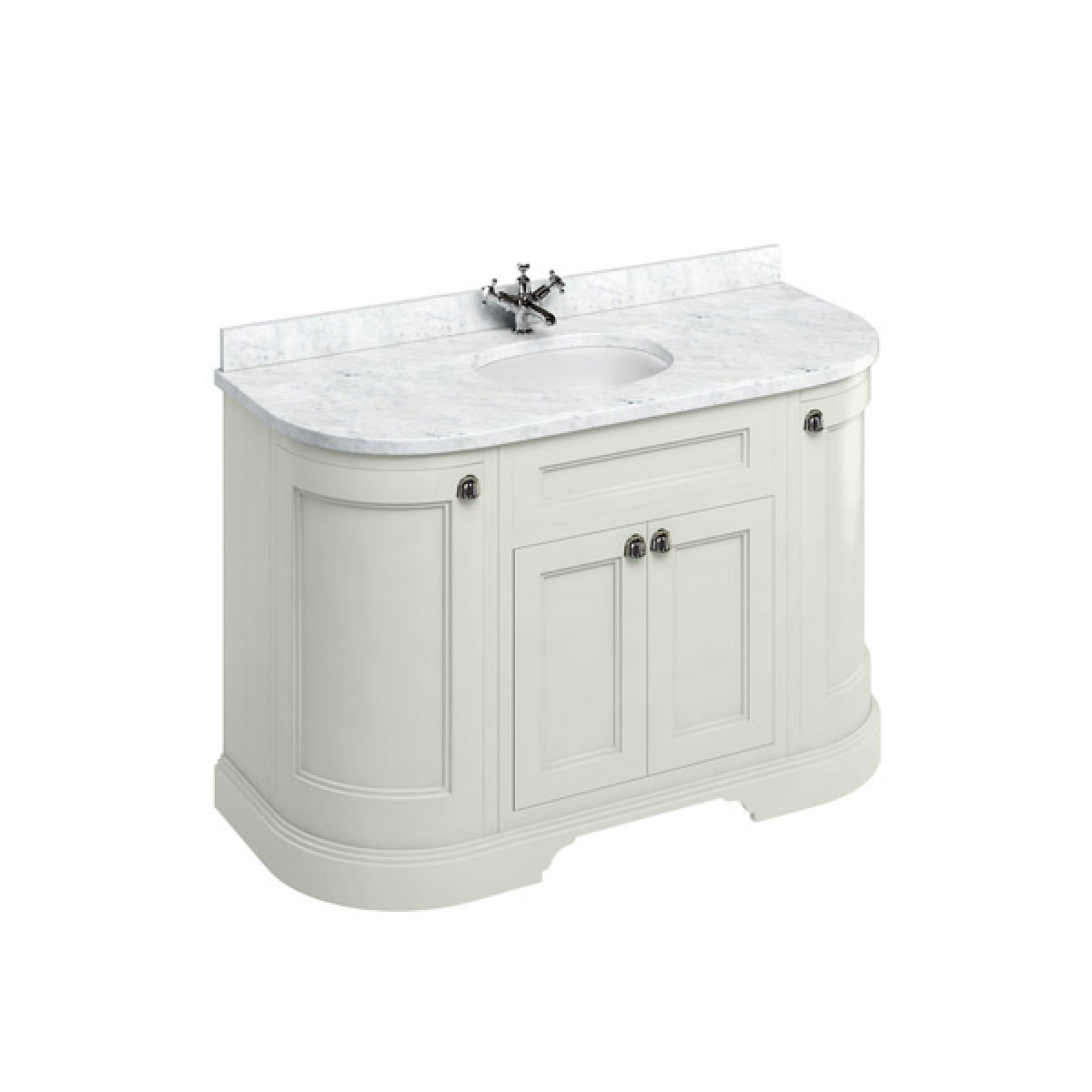 Burlington Sand Freestanding Curved Vanity Unit 1340mm