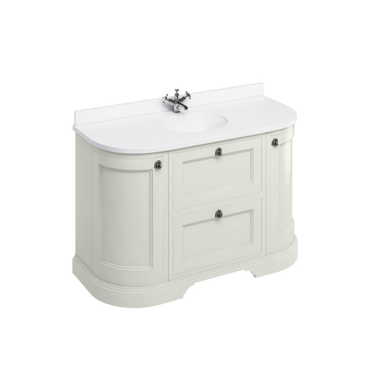 Burlington Sand Freestanding Round Vanity Unit 1340mm Minerva White