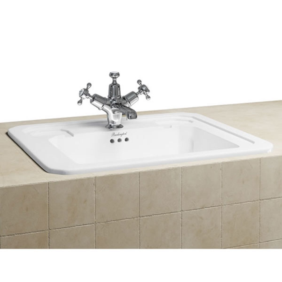 Burlington Victorian 2 Tap Hole Inset Basin 422mm