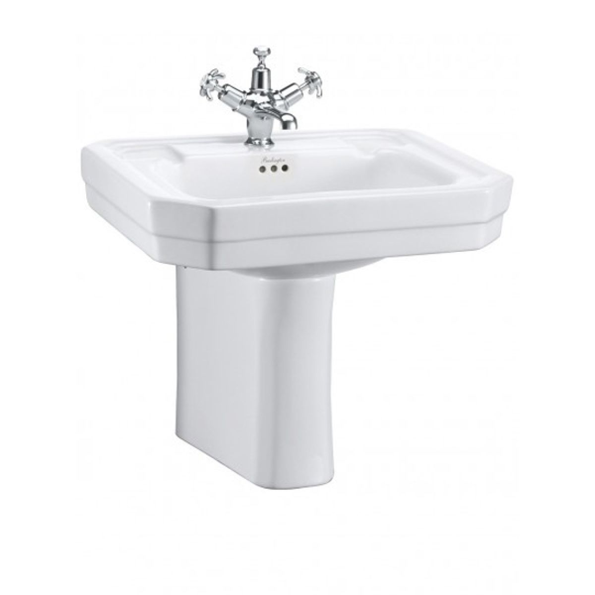 Burlington Victorian Basin with Semi Pedestal 560mm
