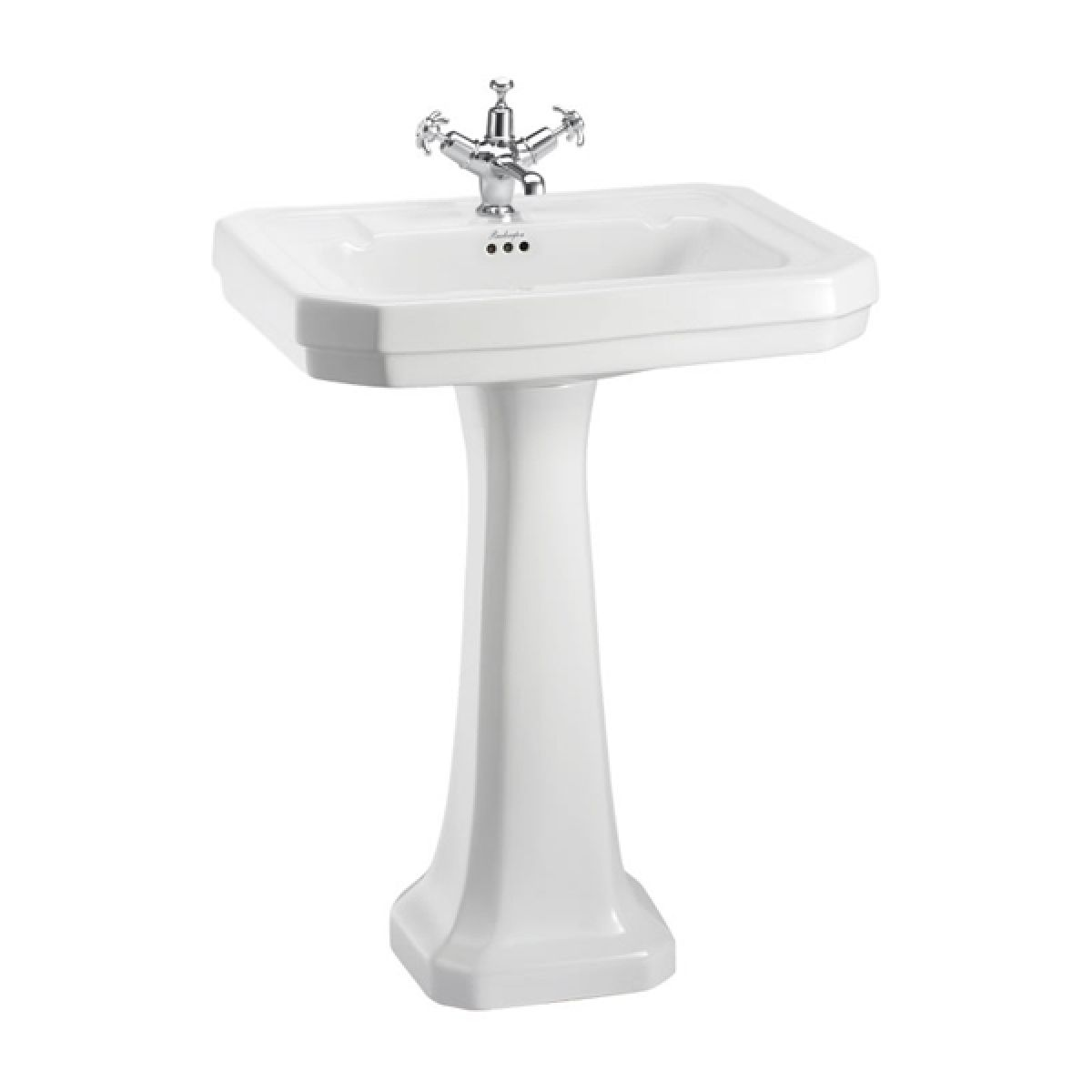 Burlington Victorian Basin with Standard Pedestal 610mm