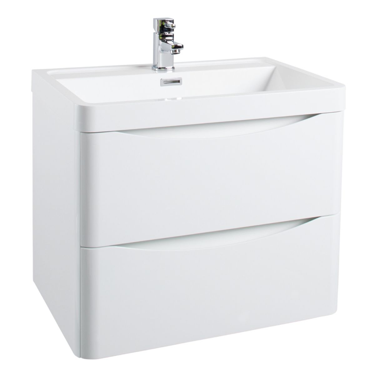 Bali Gloss White Wall Mounted Vanity Unit 600mm