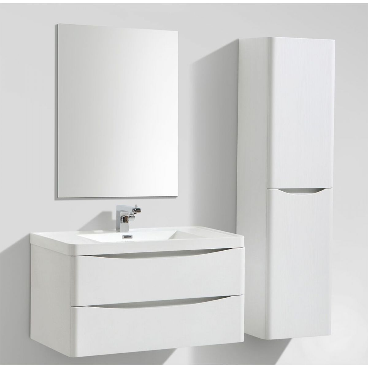 Bali Gloss White Wall Mounted Vanity Unit 900mm