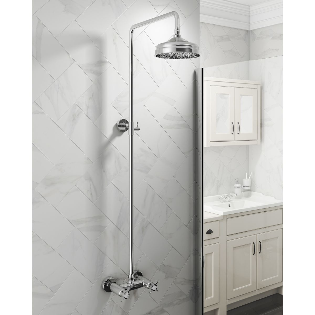 Cassellie Buxton Traditional Thermostatic Shower Kit