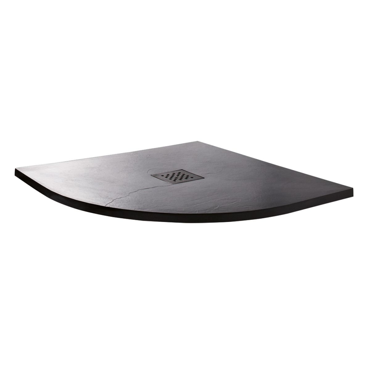 Cassellie Cass Stone Anthracite Slate Effect Quadrant Shower Tray 800 x 800mm