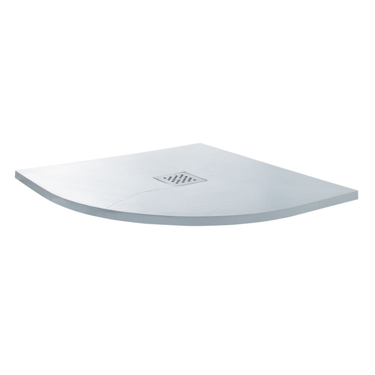 Cassellie Cass Stone White Slate Effect Quadrant Shower Tray 800 x 800mm