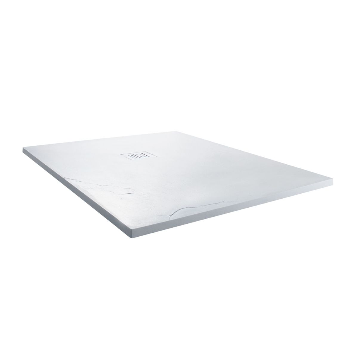 Cassellie Cass Stone White Slate Effect Square Shower Tray 900 x 900mm