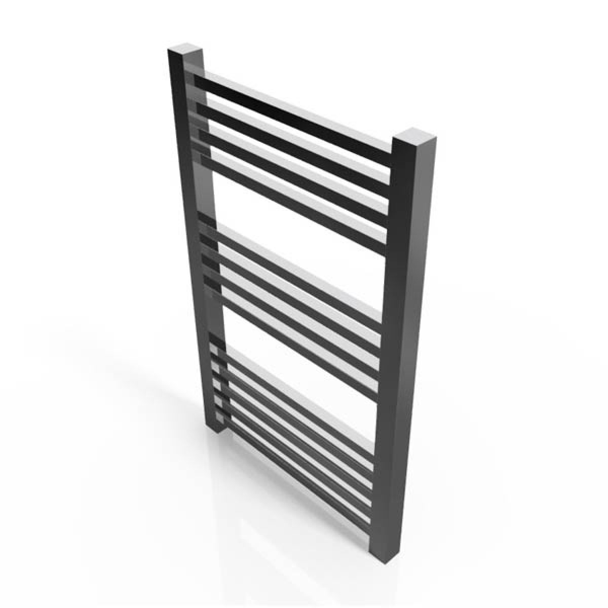 Cassellie Chrome Straight Heated Towel Rail 800 x 500mm
