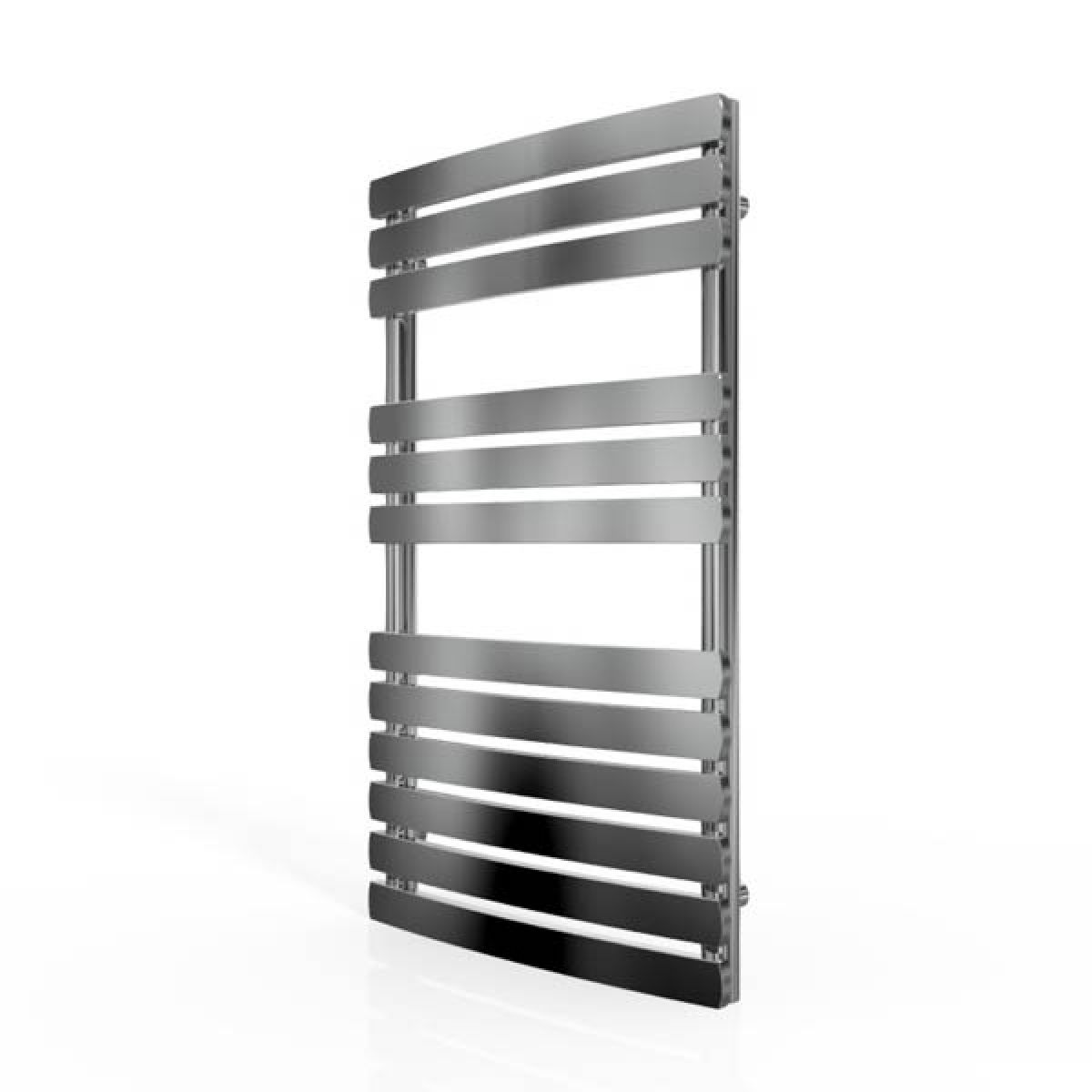 Cassellie Chrome Straight Heated Towel Rail With Flat Profile 800 x 500mm