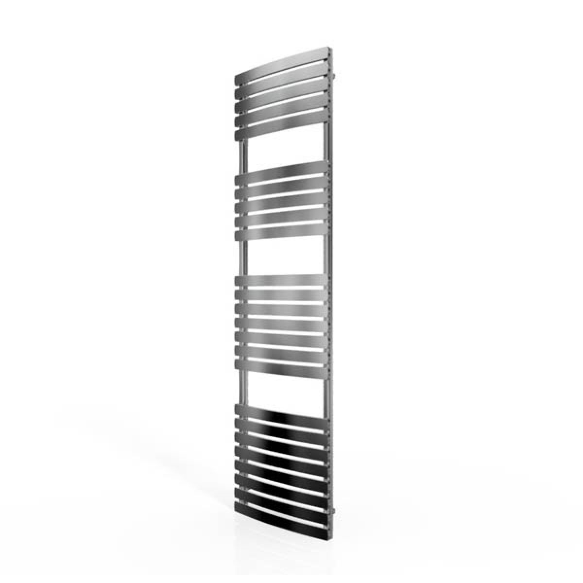 Cassellie Chrome Straight Heated Towel Rail With Flat Profile 1700 x 500mm