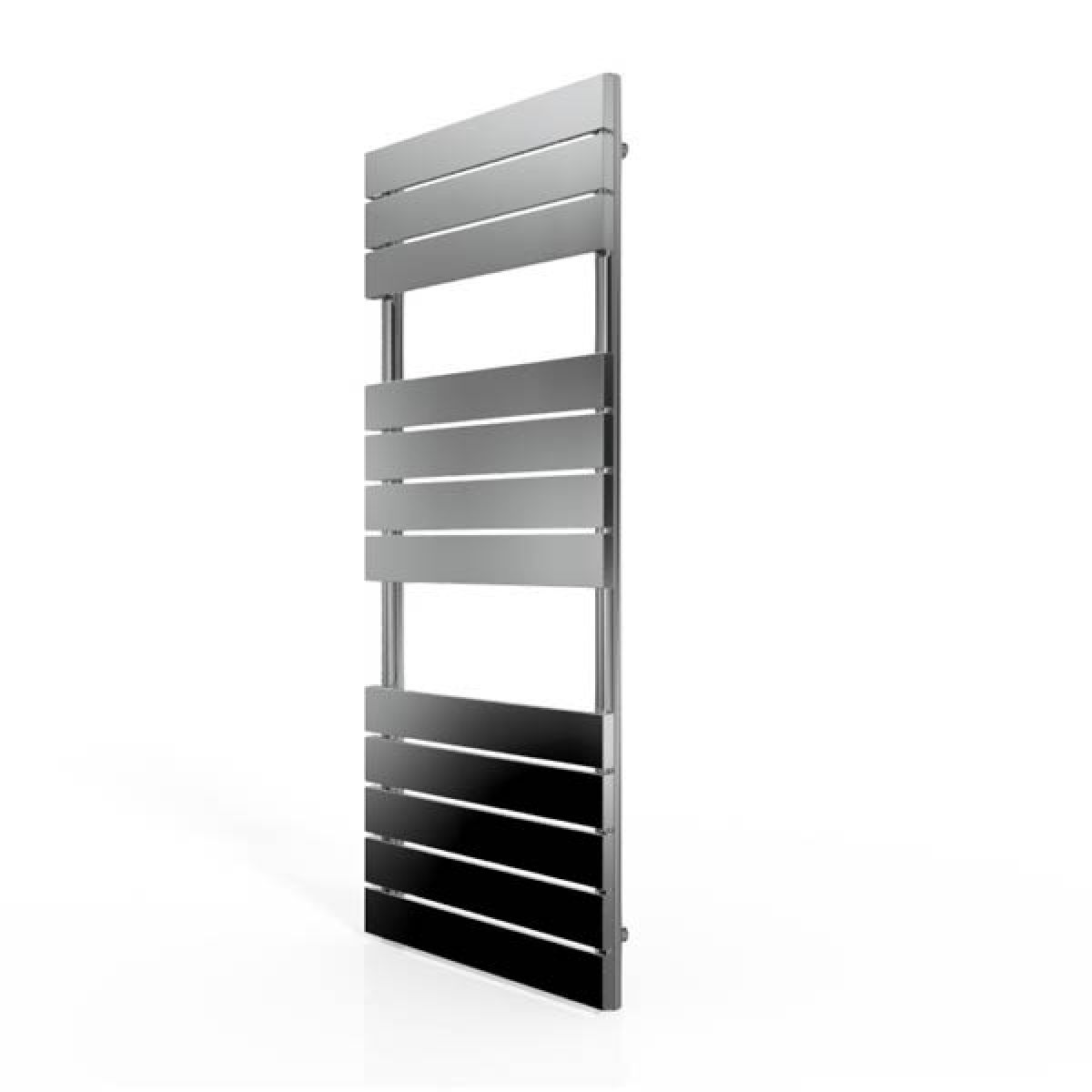 Cassellie Chrome Straight Towel Rail With Flat Profile 1200 x 500mm