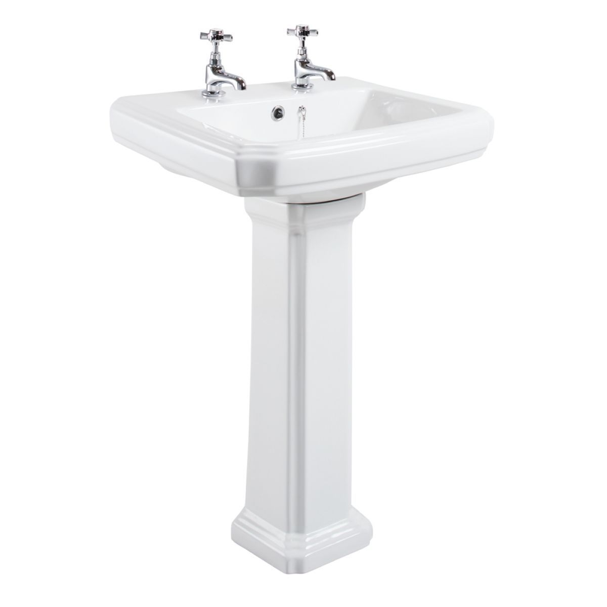 Cassellie Cromford 2 Tap Hole Basin and Pedestal