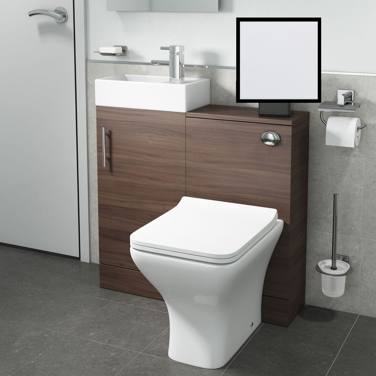 Cassellie Cube White Combination Furniture Pack 810mm