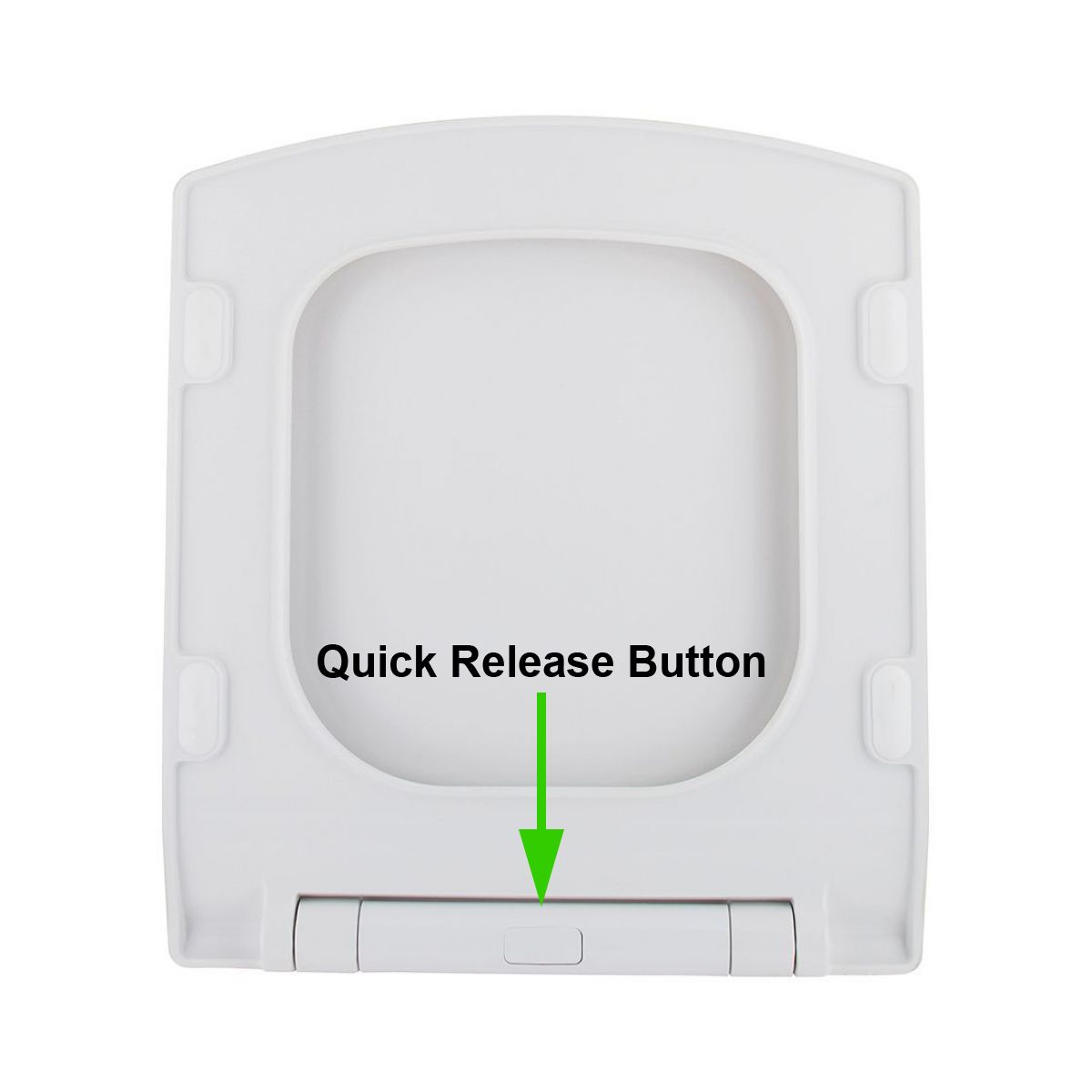 Quick Release Toilet Seat Button