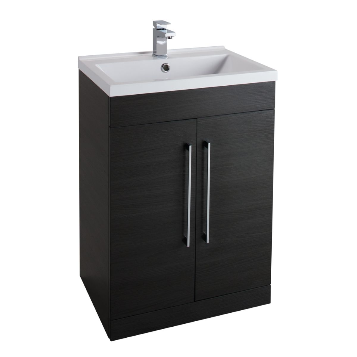 Cassellie Idon Black Vanity Unit with Basin 600mm