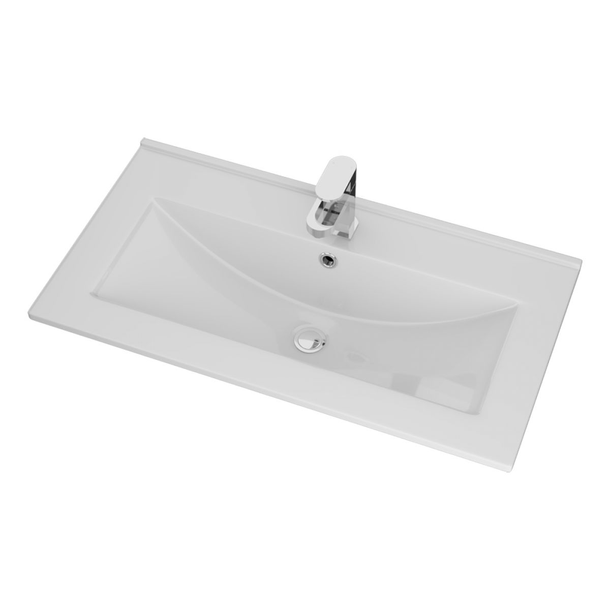 Cassellie Idon Ceramic Thin Edge Basin 800mm