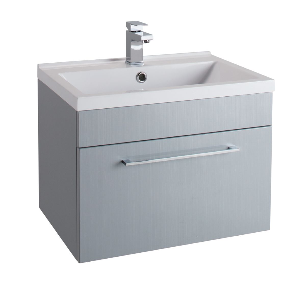 Cassellie Idon Grey Wall Hung Vanity Unit with Basin 600mm