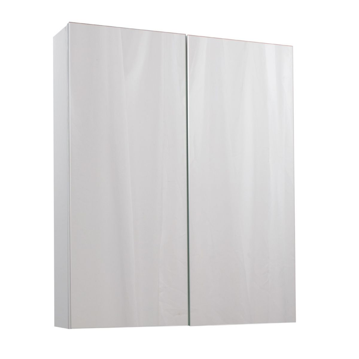Cassellie Idon Gloss White Wall Hung Mirror Cabinet 600mm