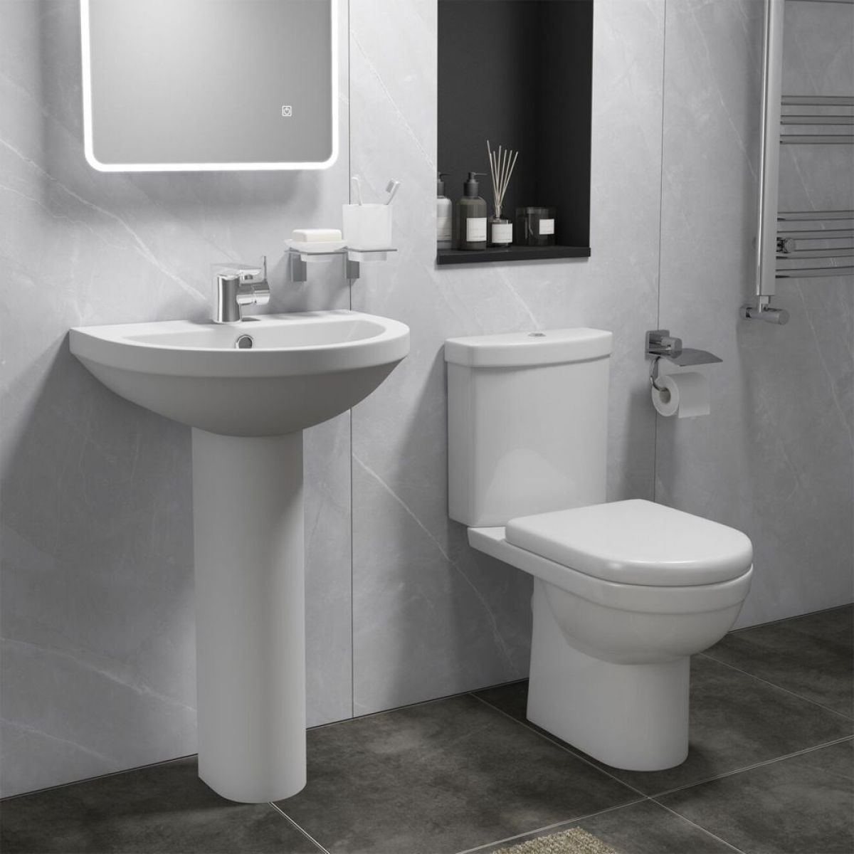 Cassellie Ivo Toilet and Basin Set