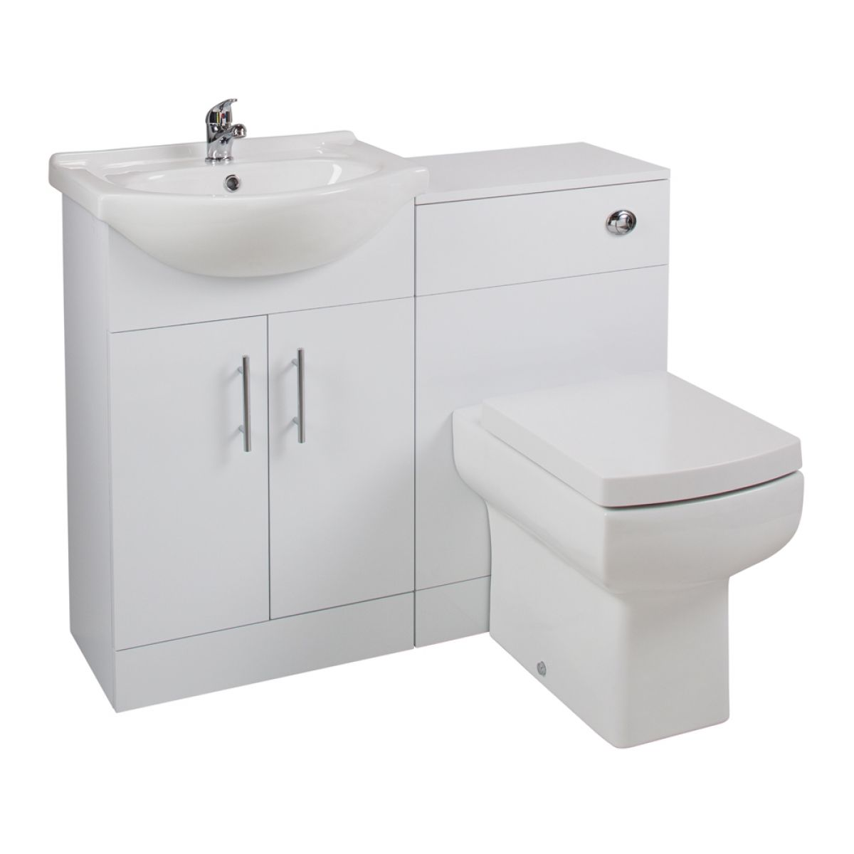 Cassellie Kass Series White Combination Unit with Daisy Lou Toilet