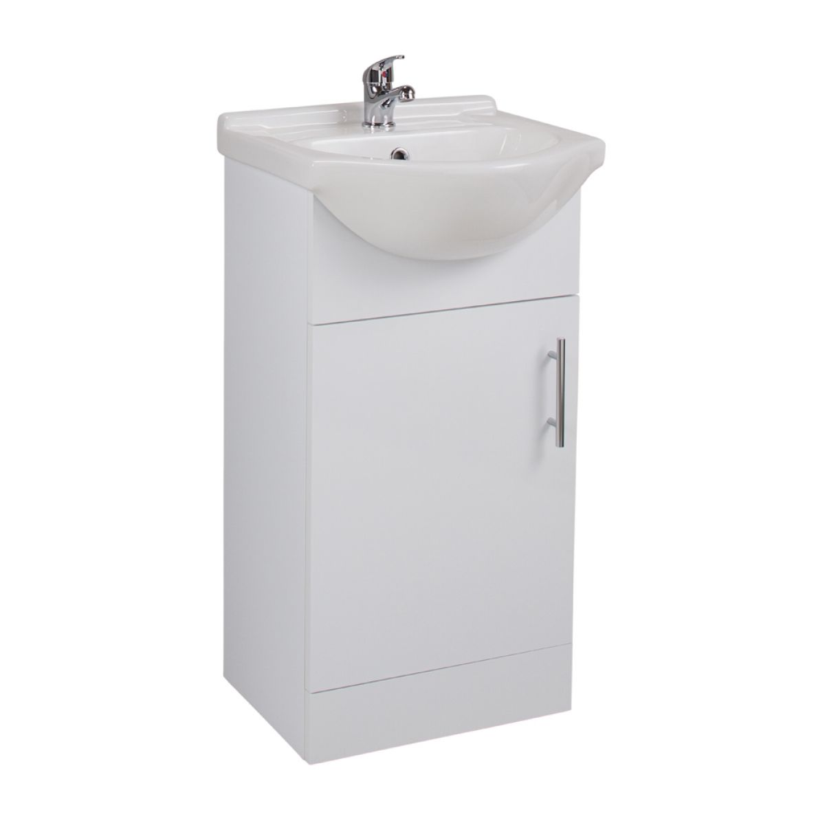 Cassellie Kass White Single Door Basin Unit with Basin 450mm