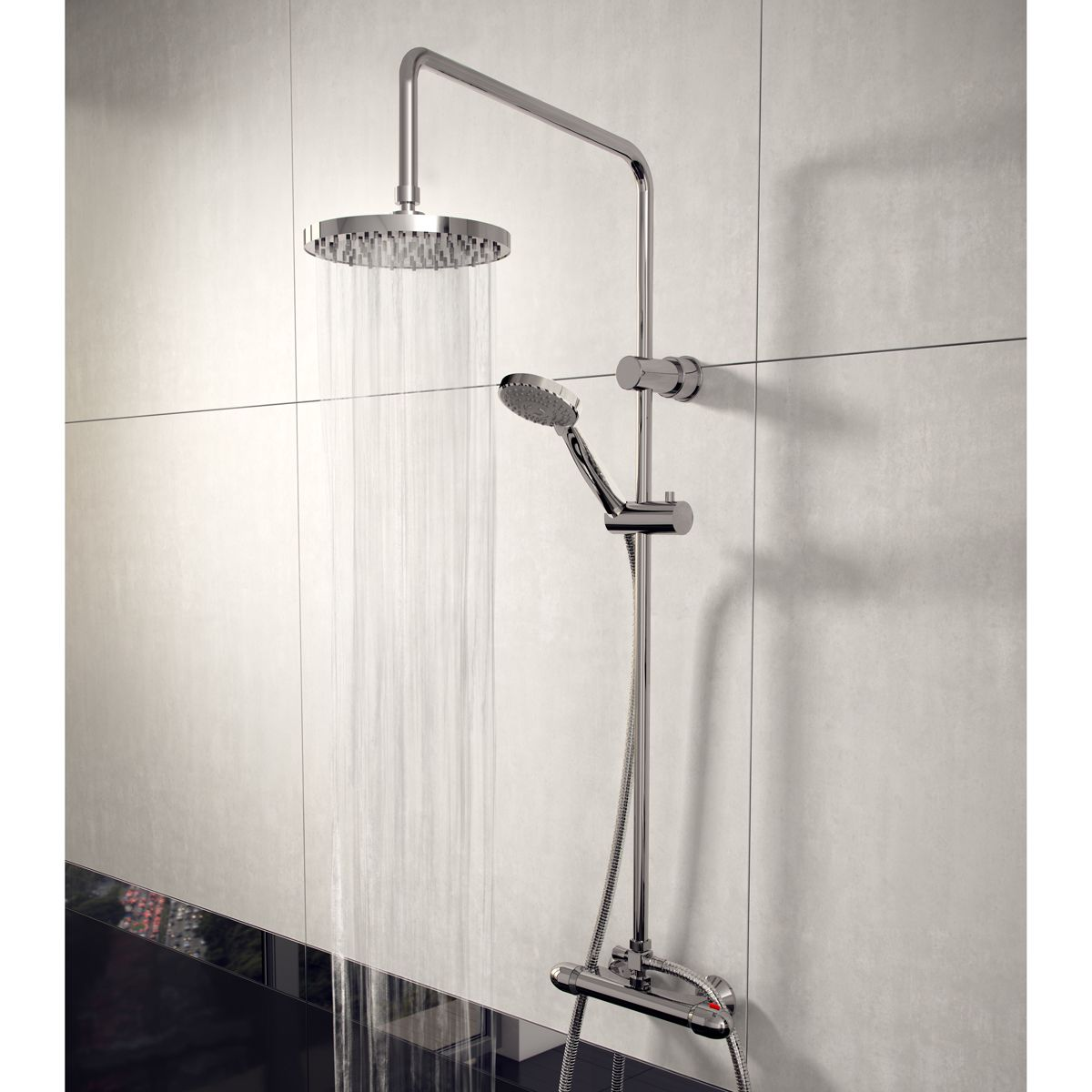Cassellie Lagos Thermostatic Shower Kit Lifestyle