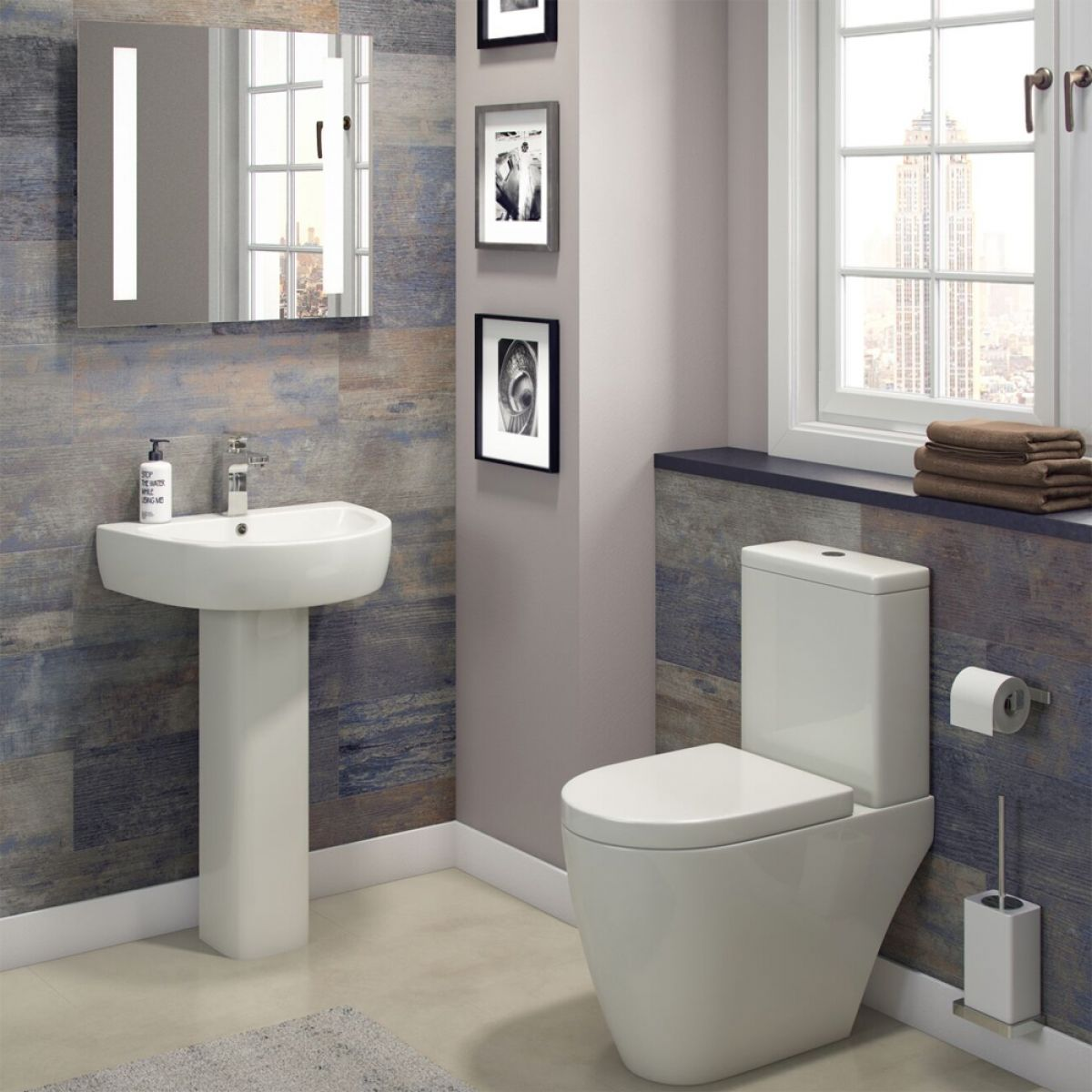 Cassellie Loxley 1 Tap Hole Basin with Semi Pedestal